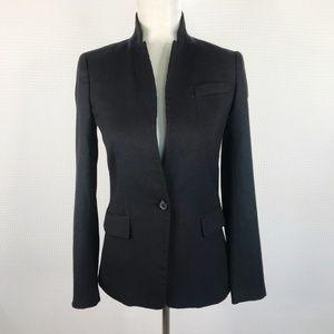J.CREW Black Regent Blazer Jacket Sz 00 Wool Blend